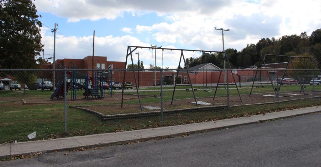 Behind Buckhannon Academy Elementary School