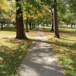 Path from Administration Building to corner of Meade and College Ave