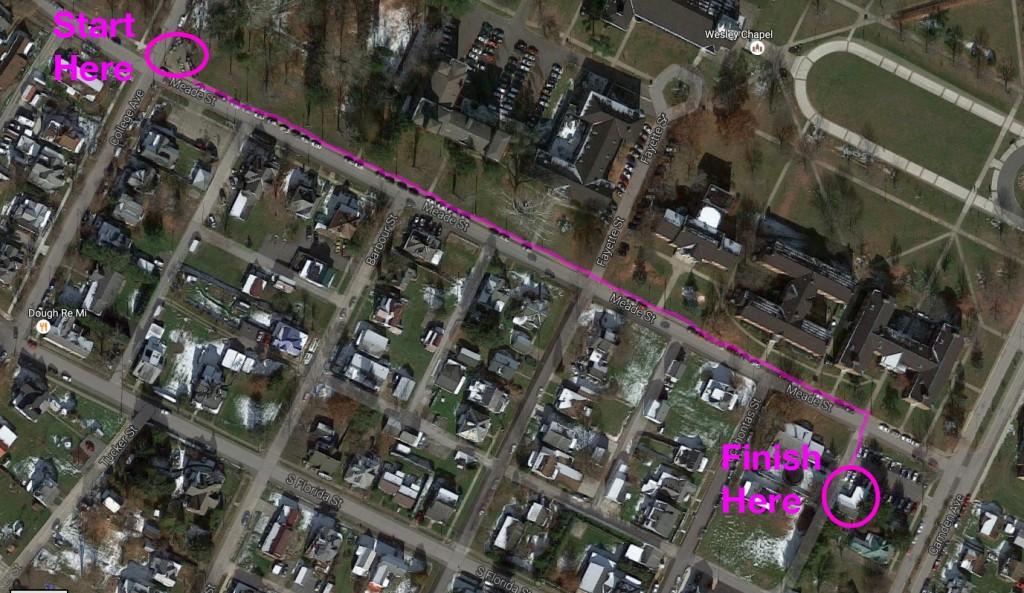 Meade Street map