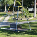Wheel chair swing